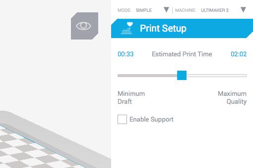 Ultimaker 2 3D印表機 cura15.06 切片軟體 Time vs Quality