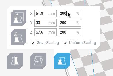 Ultimaker 2 3D印表機 cura15.06 切片軟體 比例