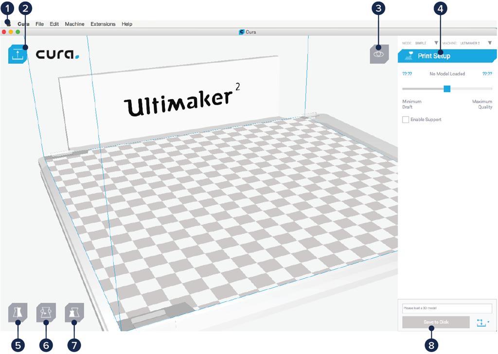 Ultimaker 2 3D印表機 cura15.06 切片軟體 操作介面