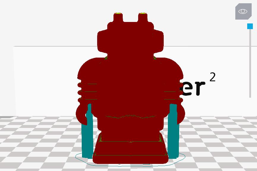 Ultimaker 3D印表機 Cura 切片軟體 中文教學 支撐  Touching buildplate
