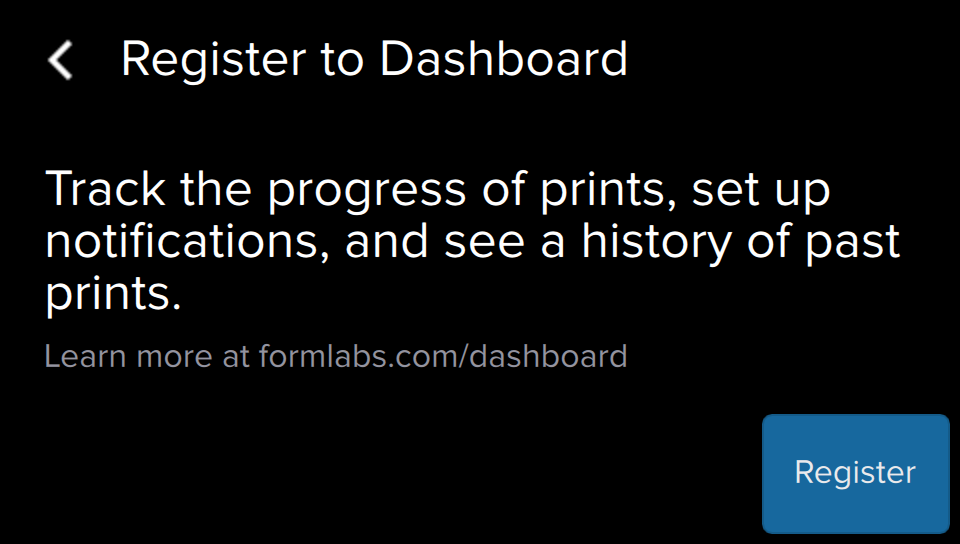 Formlabs - Form2 SLA 光固化3D列印機 3DMART 註冊dashboard