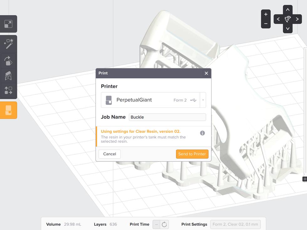 Form2 SLA 3D列印機 上傳檔案以及確認列印