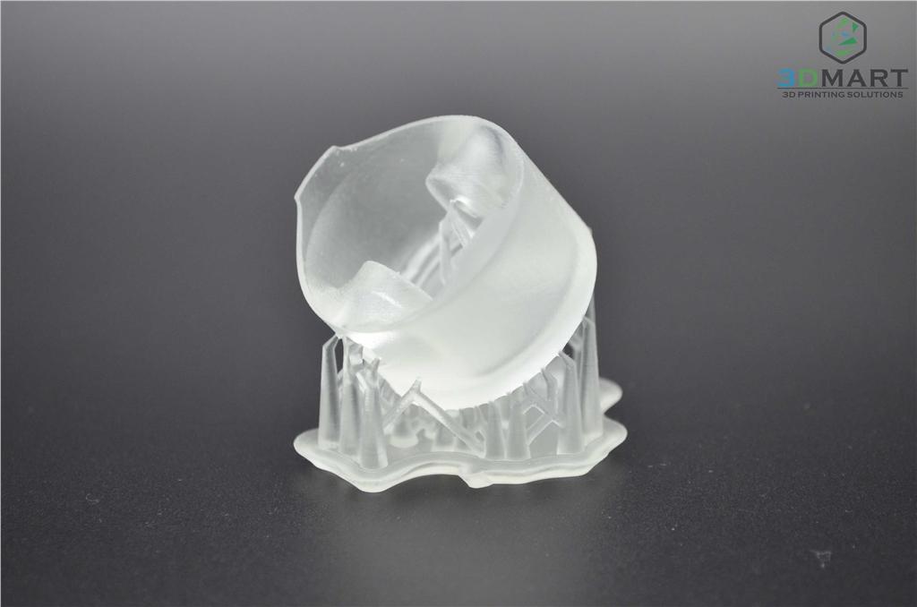 Formlabs SLA 3D列印機 Form 2 台灣 開箱文章 成品未拆支撐 側視角 3DMART