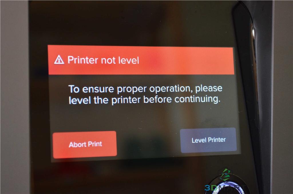 Formlabs SLA 3D列印機 Form 2 台灣 開箱文章 水平調整警告 3DMART