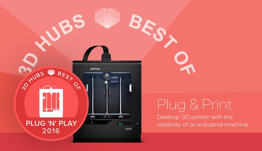 Zortrax M200 3D印表機 3D Hubs Best Of 台灣官方代理 3DMART