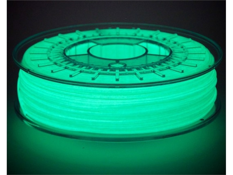 夜光3D列印耗材 ColorFabb PLA/PHA - GlowFill  - Spool in dark