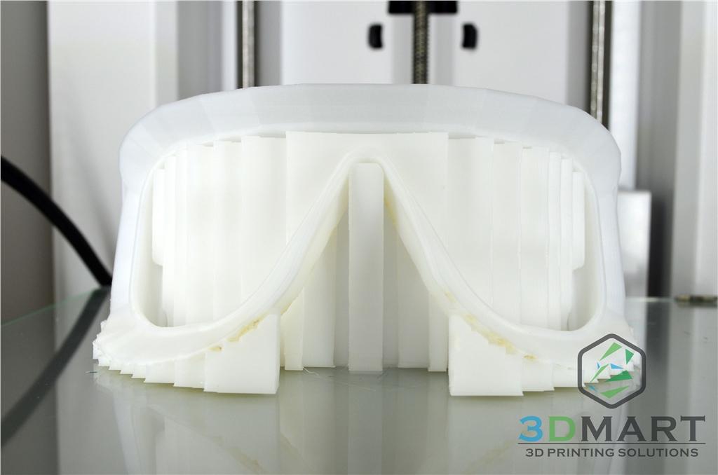 Ultimaker 3D印表機 3D列印 Ski goggles 滑雪鏡 支撐