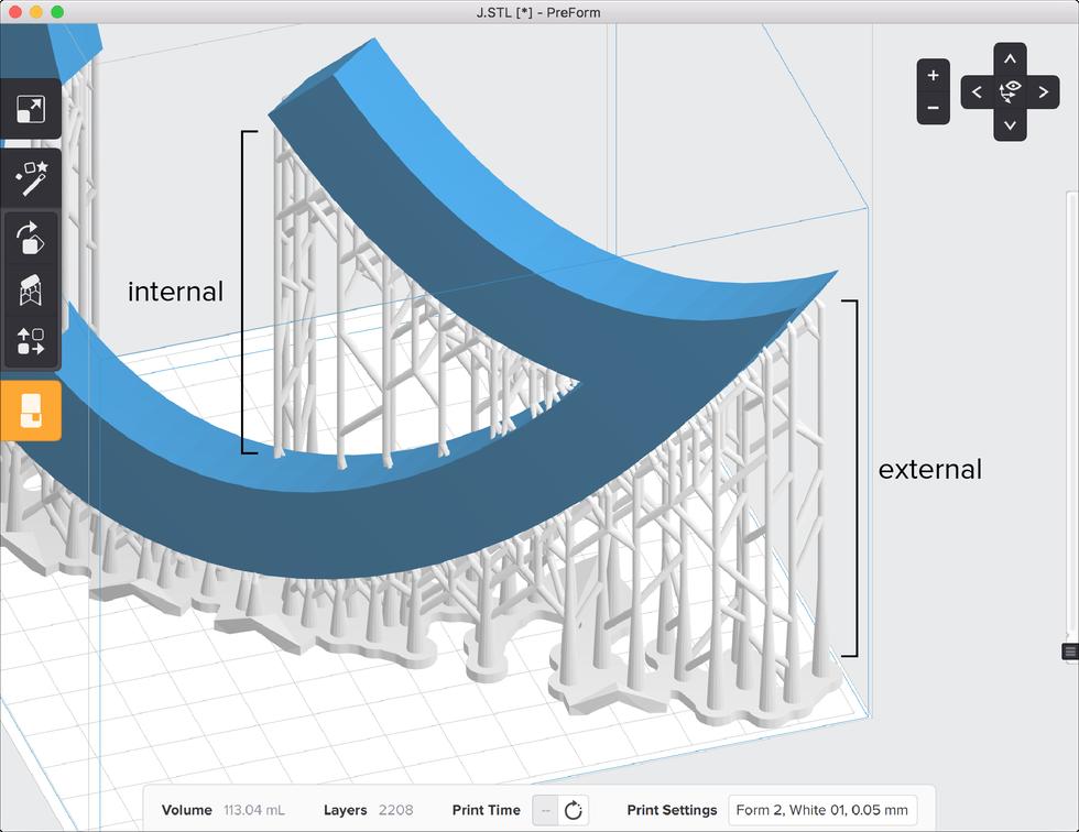 formlabs form2 preform切片軟體教學 內部支撐