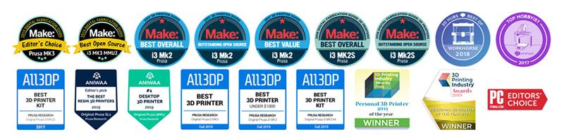 Original Prusa i3 MK3S+ 3D Printer awards