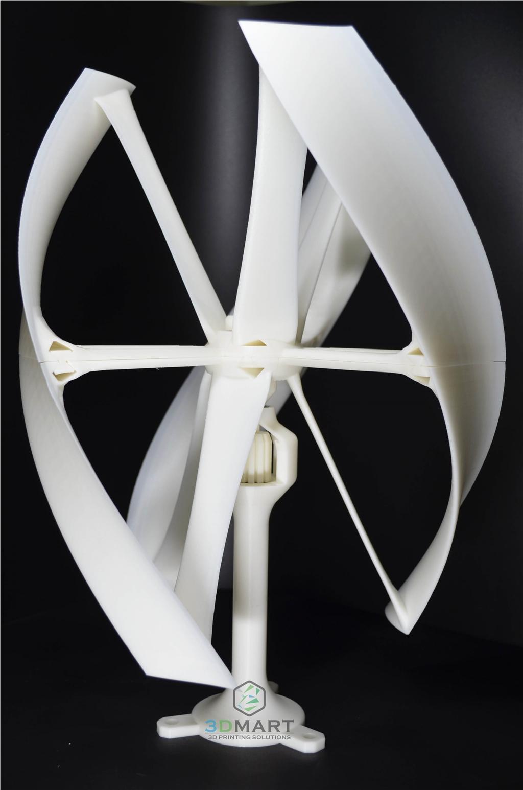 Ultimaker 2 + 3D列印機 easy to build beautiful sample Wind Turbine風力發電機