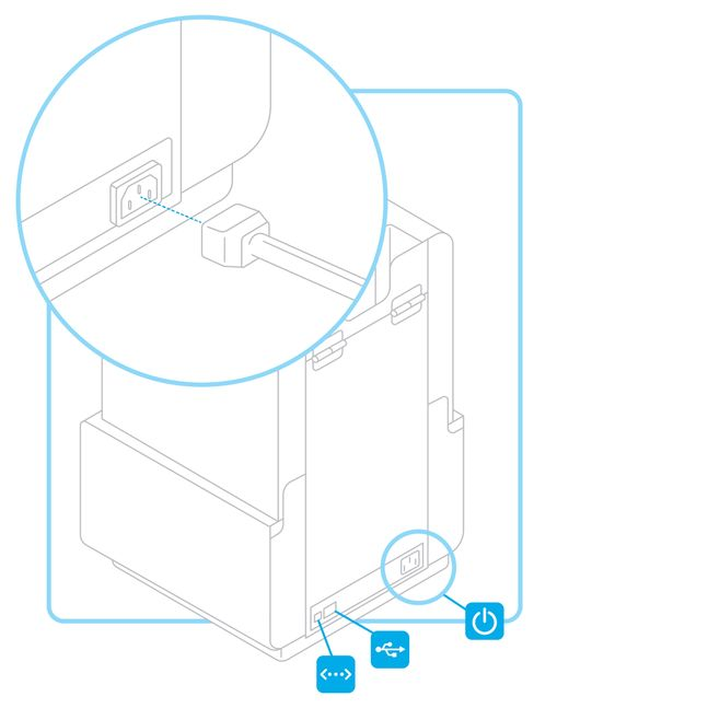 Formlabs - Form2 SLA 光固化3D列印機 3DMART 連結電源