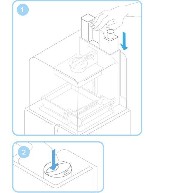 Formlabs - Form2 SLA 光固化3D列印機 3DMART 安裝樹脂卡夾