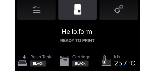Form2 SLA 3D列印機 列印時自動溫控 確認樹脂溫度