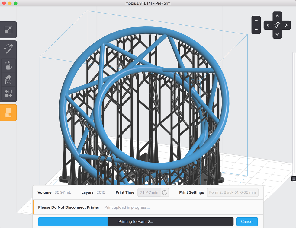 formlabs form2 preform切片軟體教學 確認列印