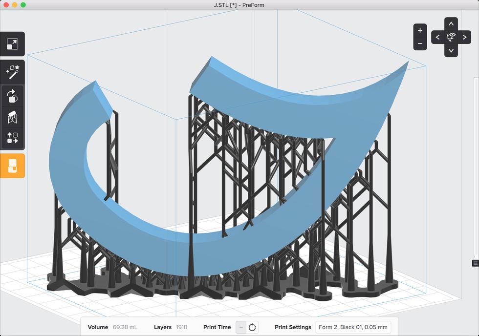 formlabs form2 preform切片軟體教學 完整支撐結構