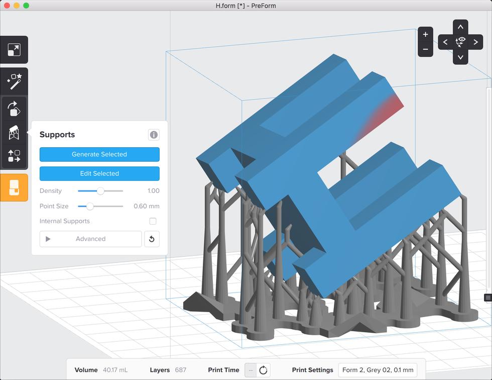 formlabs form2 preform切片軟體教學 進階支撐設定 不生成內部支撐結構