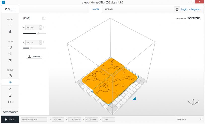 Zortrax M200  Z-Suite操作指南 放置模型 物件合併
