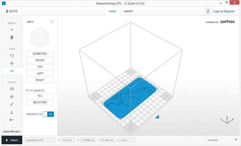Zortrax M200  Z-Suite操作指南 放置模型 視角