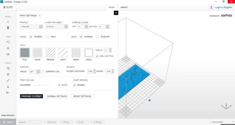 Zortrax M200  Z-Suite操作指南 列印選項 參數設定 進階設置