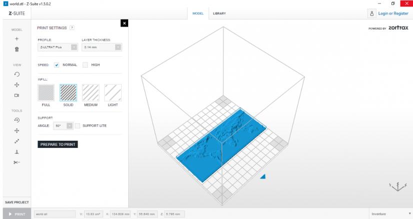 Zortrax M200  Z-Suite操作指南 列印選項 參數設定 準備列印