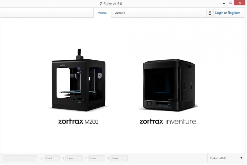 Zortrax M200  Z-Suite操作指南 選擇列印機